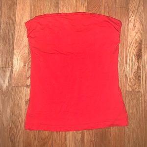 H&M tube top orange red